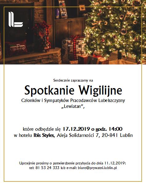 Zaproszenie Spotkanie Wigilijne PL Lewiatan 17.12.2019