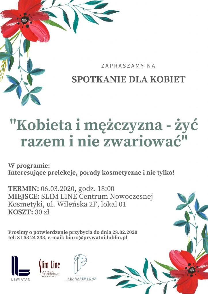 Zaproszenie Spotkanie dla kobiet 06.03.2020